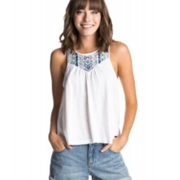 ROXY Bright White Indio Palms Top - Tops and Tees - Women