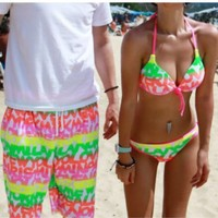 Fluorescence Beach Shorts for Couple | Eco-friendly Items In Summer