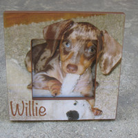 Personalized Dog Picture Frame, Custom Pet Memorial Picture Frame, Unique Pet Photo Frame