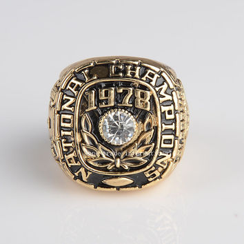 Replica National College 1973 Alabama Crimson Tide  High Quality Championship Ring Size 11 BC2862