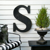 24 Fancy S Capital Letter Cast Iron Black Ready by SlippinSouthern