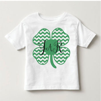 Holiday Personalized Monogrammed Shamrock Shirt- Kid's Clothing