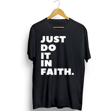 NEW Mens & Womens Christian Tee Shirt-Have Faith in Jesus Religious Top Sz S-6X