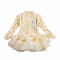 "The ""Lana"" Sweater Tutu Dress in Cream"