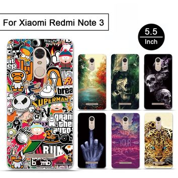 Cartoon for Coque Xiaomi Redmi Note 3 Cases luxury Mobile Phone Cases Back Cover Silicon TPU Soft for Xiaomi Redmi Note 3 Cases