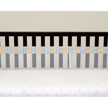 Wendy Bellissimo Walk With Me Secure-Me Crib Liner (Blue/White)