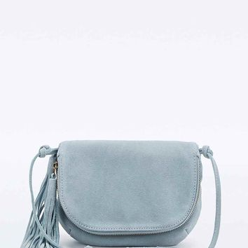 Kimchi Blue Suede Tassel Cross-Body Bag in Blue - Urban Outfitters