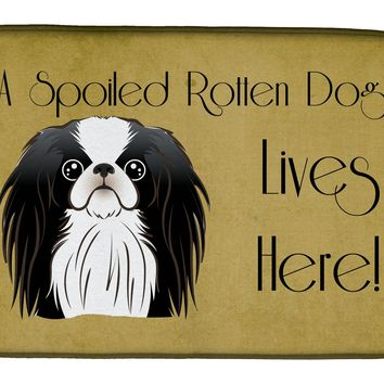 Japanese Chin Spoiled Dog Lives Here Dish Drying Mat BB1478DDM