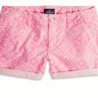 AEO Women's Rolled Midi Short (Pink)