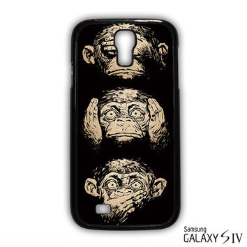 illustrations three wise monkeys wisdom for Samsung Galaxy S3/4/5/6/6 Edge/6 Edge Plus phonecases