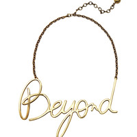 Lanvin Beyond Necklace - Gold Script Necklace - ShopBAZAAR
