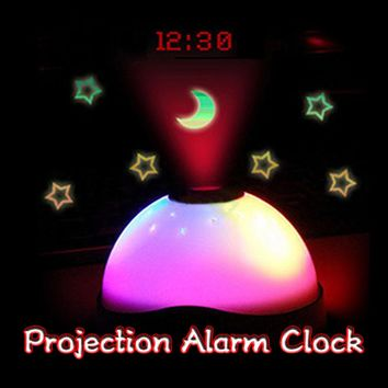 7 Colors Starry Digital Clock Magic LED Projection Alarm Clock Night Light Color Changing Home Decor Alarm Clocks Gift For kids