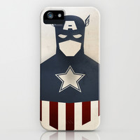 CAPTAIN AMERICA iPhone & iPod Case by Agustain