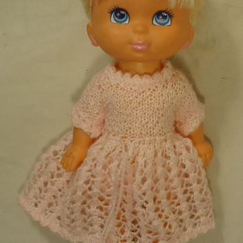 Grand Group 014-22gg Vintage Baby Doll with Crocheted Dress Plastic Fabric -- Good