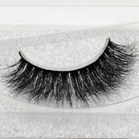 Visofree Mink False Eyelashes Classic Collection Upper Lashes Natural & Lightweight Mink Lashes 1 pair Glitter Packaging A06