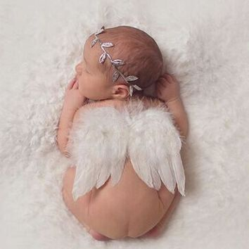 My Little Angel Newborn Wings & Headband Set