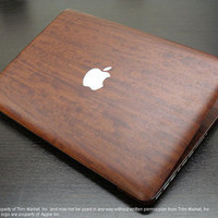 FOR MAC BOOK PRO 13.3 IN PRIMAVERA WOOD FULL BODY WRAP PROTECTOR DECAL SKIN 7PCS