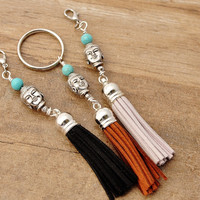Thank You Gifts For Yoga Teacher Girlfriend Coworker Buddhist Gift For Mom Buddha Keychain Purse Jewelry Bag Zipper Charm Gifts For Her