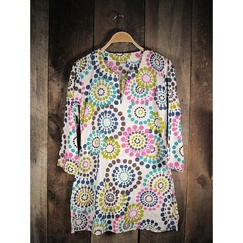 Cotton Tunic Top Spring Colors