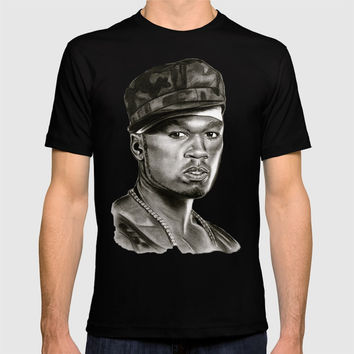 50 Cent in Black and White T-shirt by GittaG74