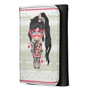 Kawaii Chibi Hipster Wallets