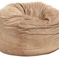 Best Selling Huge 5-foot Bean Bag Faux Suede By Christopher Knight Madison. This Super Comfortable Beanbag Now Is for Sale! Extra Large Bean Bag Chair Is Amazing - Kids Can Play on It, While Adults Can Simply Relax in Its Softness (Camel)