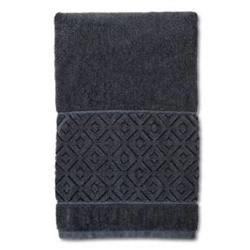 Distressed Diamond Bath Towel - Navy - Threshold™