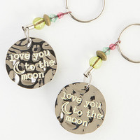 """Natural Life """"Love You To The Moon"""" Keychain"""