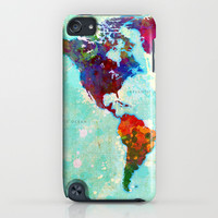 Abstract World Map iPhone & iPod Case by Gary Grayson