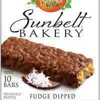 Fudge-Dipped COCONUT Chewy Granola Bars 10-Count (5 Boxes)