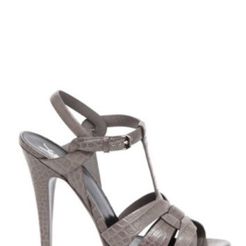 SAINT LAURENT Tribute Leather Sandal