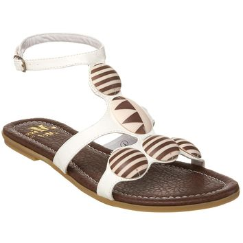 EROS MOSIAC SANDALS - WHITE