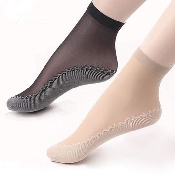 Hot Sale! High Quality Women Velvet Socks Female Socks Summer Thin Silk Transparent 1 Pair Ankle Sox Women's Socks