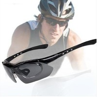 Red Running Sunglasses Exchangeable 5 Lenses