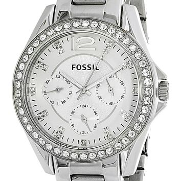 Fossil Womens ES3202 Multi Function Silver Watch