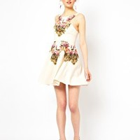 Ginger Fizz Prom Dress In From Paris With Love Print at asos.com