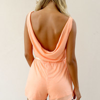Low Back Playsuit - Peach | SABO SKIRT