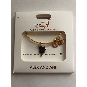 Disney Alex and Ani Parks Mickey Ice Cream Bar Snack Food Gold Charm Bracelet
