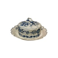 Pre-owned Meissen Blue Onion Butter Dish