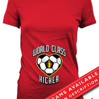 Soccer Pregnancy Announcement T Shirt Gifts For Expecting Mothers Soccer Shirts For Mom Pregnancy Reveal Belgium Soccer Fan Ladies Tee MD648