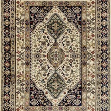 3843 Ivory Moroccan Oriental Area Rugs