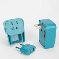 World Travel Adapter Plug in Teal - Urban Outfitters