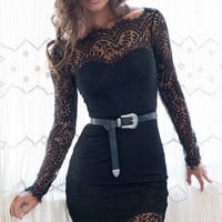 Spellbound Lace Dress Black