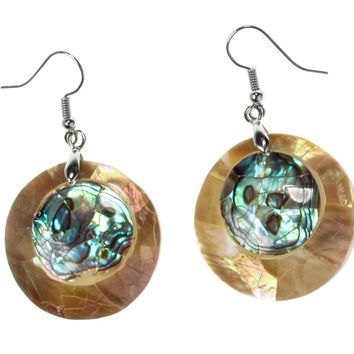 Natural abalone shell drop dangle earrings fashion jewelry mothers day gifts for women mom her wife H011