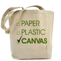 Paper Plastic Canvas Canvas Tote Bag by PamelaFugateDesigns