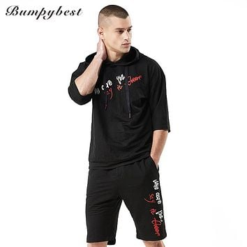 Summer Men's Set Casual Sportswear 2 Piece Tracksuit Sets Hoodies Pants Sporting Suits Men Fashion Sweatsuit Clothing
