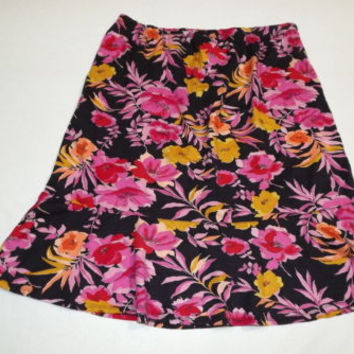 new w/Tag  AVENUE Womens Black Pink Fuchsia Gold Skirt Plus Size 14 / 16