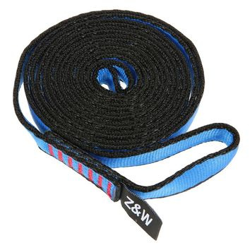 23KN Flat Strap 16mm 60cm/120cm/150cm Rope Runner Webbing Sling Belt for Mountaineering Rock Climbing Caving Rappelling Rescue