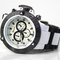 White Black Invicta Inspired Watch