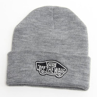 Vans Off The Wall Beanie Womens & Mens Warm Winter Knitted Cotton Unisex Gray Cuffed Skully Hat
